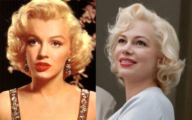 Marilyn Monroe e sua intérprete, Michelle Williams