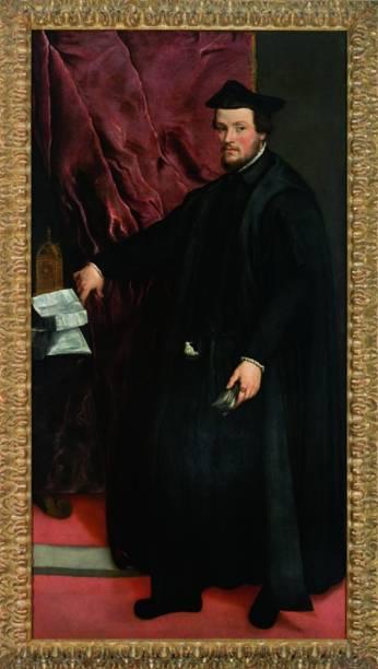 Retrato do Cardeal Cristoforo Madruzzo, 1552, Ticiano
