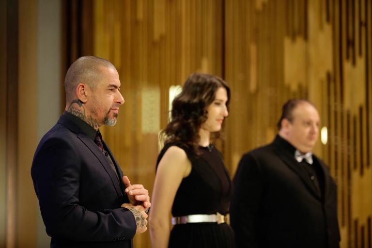 Fogaça, Paola e Jacquin: comissão de frente implacável (Fotos: Carol Gherardi/Band)