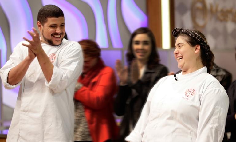Rual e Izabel: a felicidade dos finalistas (Fotos: Carol Gherardi/Band)