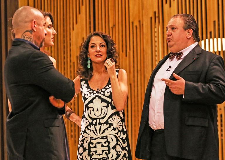 O trio Fogaça, Paola e Jacquin: novamente juntos (Fotos: divulgação)