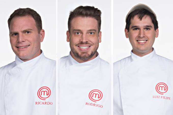 O trio eliminado: Ricardo Bonomi, Rodrigo Einsfeld e Luiz Filipe Jacob (Foto: Carlos Reinis/Band)