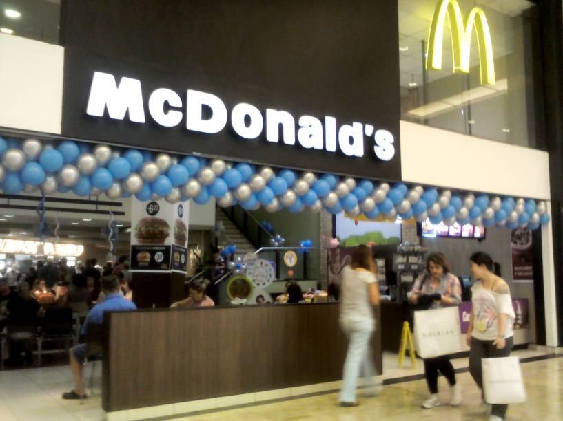 Mc Donalds, localizado no Shopping Center Norte