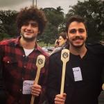 Em dupla: Mohamad com Martin quando ganhou o direito à participação no MasterChef no Pacaembu (Reprodução Instagram)