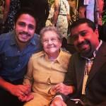 Martin com Palmirinha e o blogueiro Zé Kitchen na festa do Comer & Beber 2014-2015