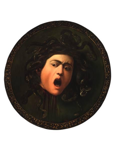 Caravaggio e Seus Seguidores reúne obras do grande pintor barroco, como a Medusa Murtola
