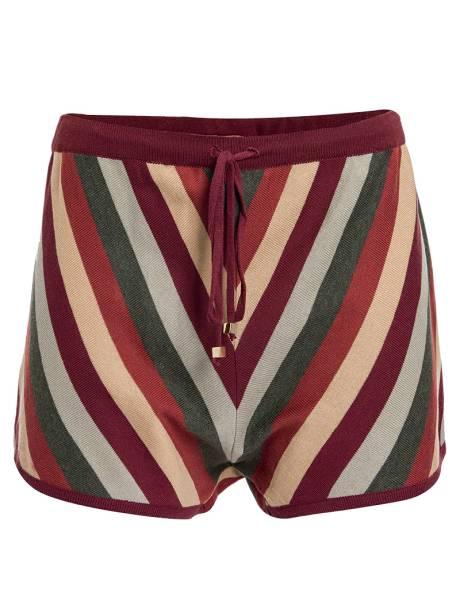 Short de tricô de algodão