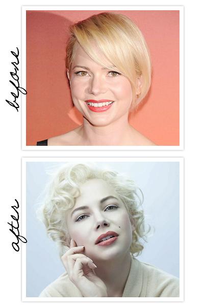 A bela Michelle Williams caracterizada como Marilyn Monroe em Sete Dias com Marilyn