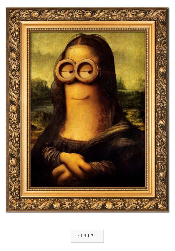 Minions-Mona Lisa por Leo da Vinci