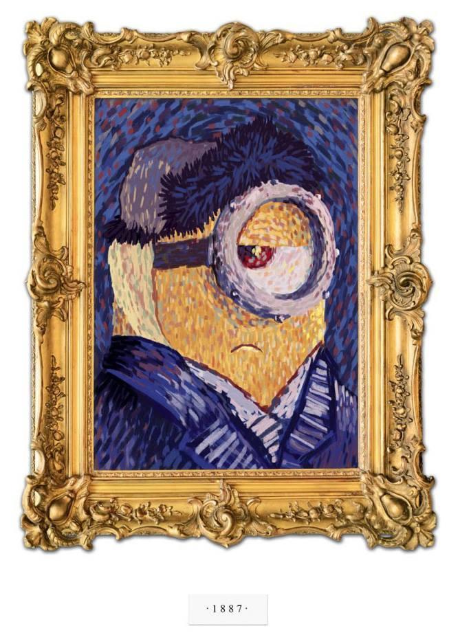 Minions por Van Gogh