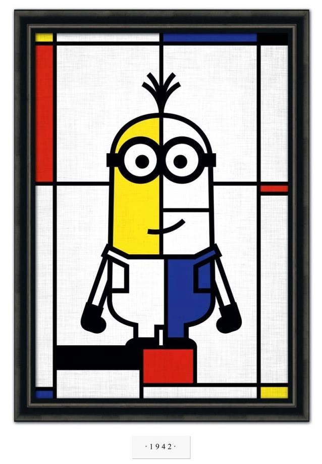 Mondrian ia adorar a versão Minions de sua obra