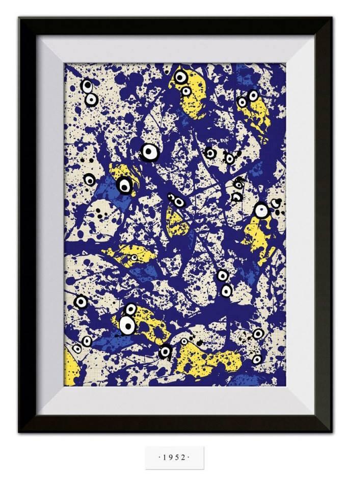 Encontre os Minions na tela de Pollock