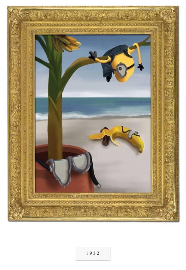 É surreal: Minions por Salvador Dalí