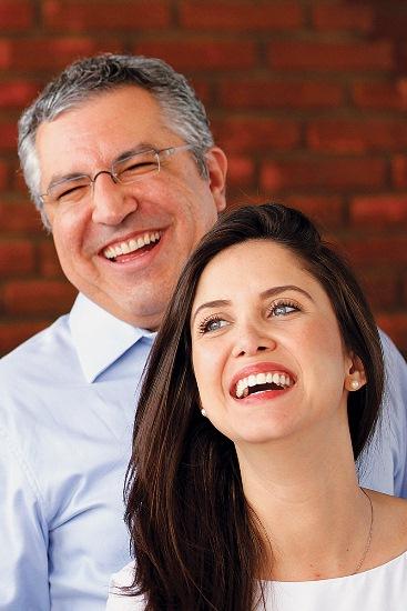 Padilha ao lado da namorada, Thássia Alves: de mudança para a Rua Avanhandava (foto: acervo pessoal)