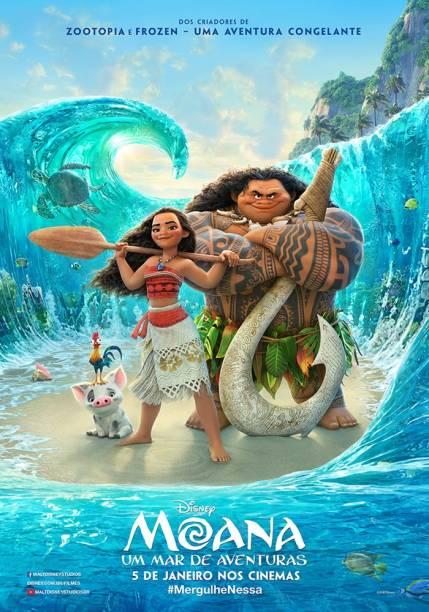 Pôster do filme 'Moana - Um Mar de Aventuras'