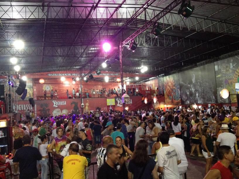 Ensaio da escola de samba Mocidade Alegre
