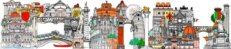 Painel de 40 metros quadrados: ícones italianos