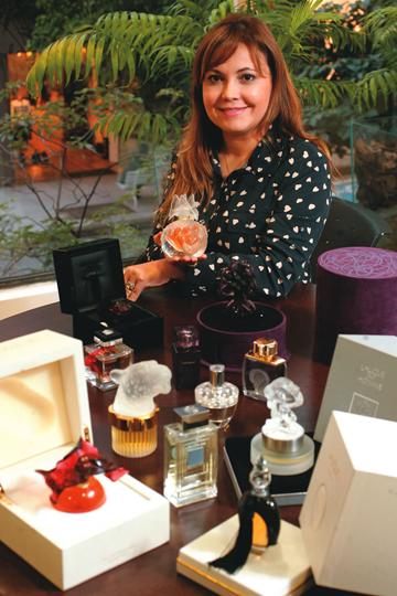 Monica: perfumes de até 13.000 reais (Foto: Fernando Moraes)