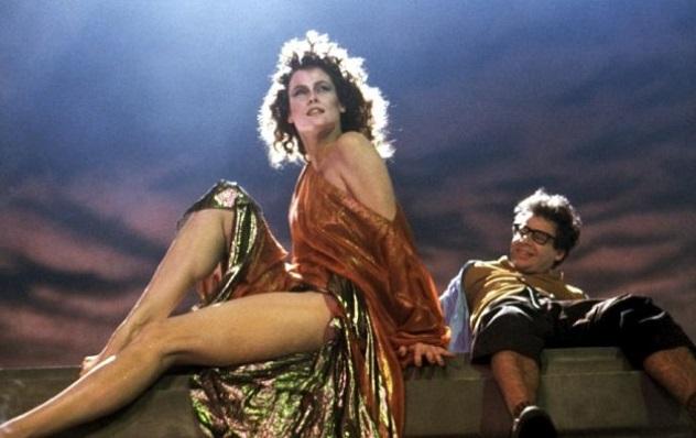 Ao lado de Sigourney Weaver em Os Caça-Fantasmas