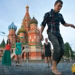 Partida em frente à Catedral de São Basílio, em Moscou, na Rússia (Crédito: Caio Vilela)