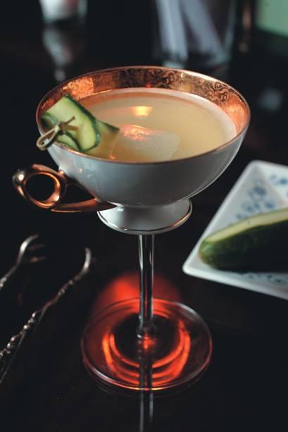 O delicado coquetel lafayette, do MyNY Bar: apresentação diferenciada