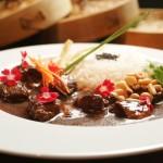 Curry verde de porco com tamarindo e açúcar de palmeira: R$ 44,48