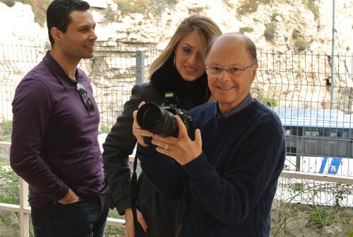 O casal com o bispo Edir Macedo