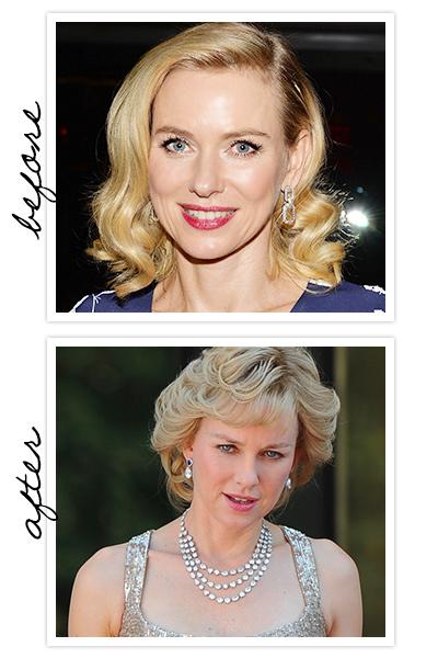 Naomi Watts mudou muito para viver a Princesa de Gales em Diana