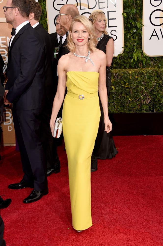 Naomi Watts com tomara que caia da grife Gucci (Foto: Reprodução/Fashionista)