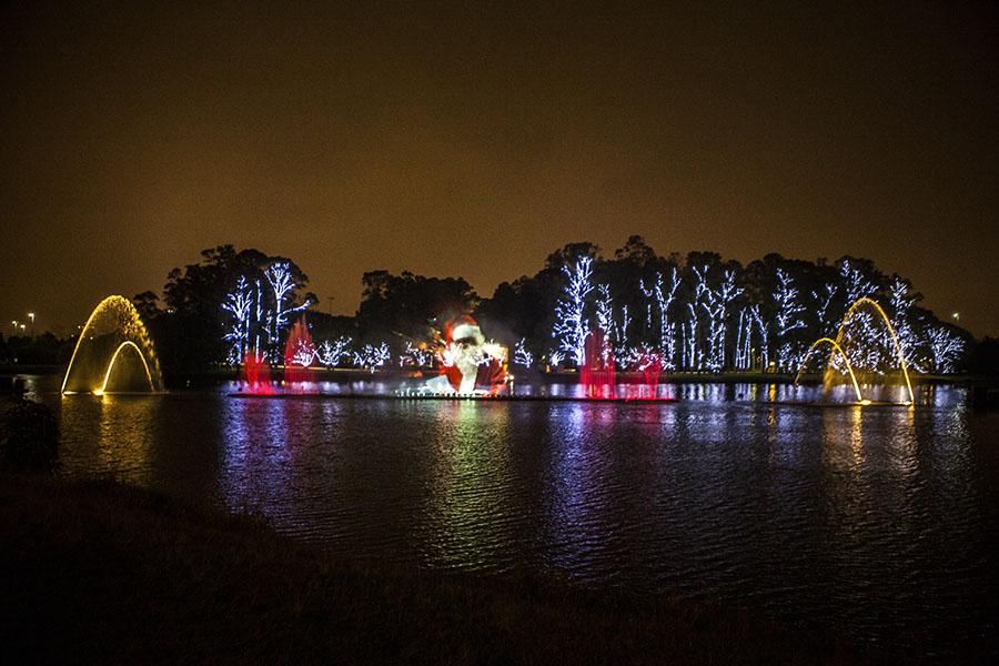 Este ano, cerca de 200 árvores foram decoradas com 1 milhão de lâmpadas de LED