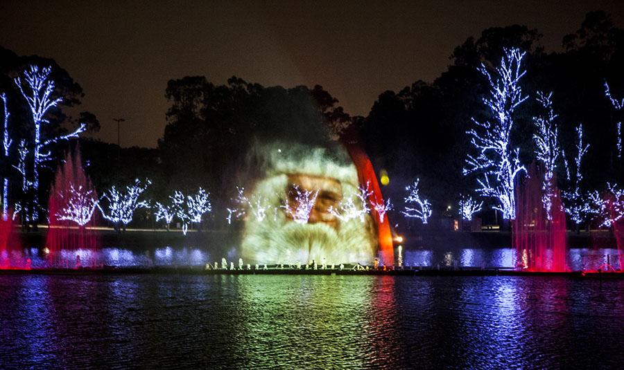 Natal Iluminado - Fonte do Parque do Ibirapuera
