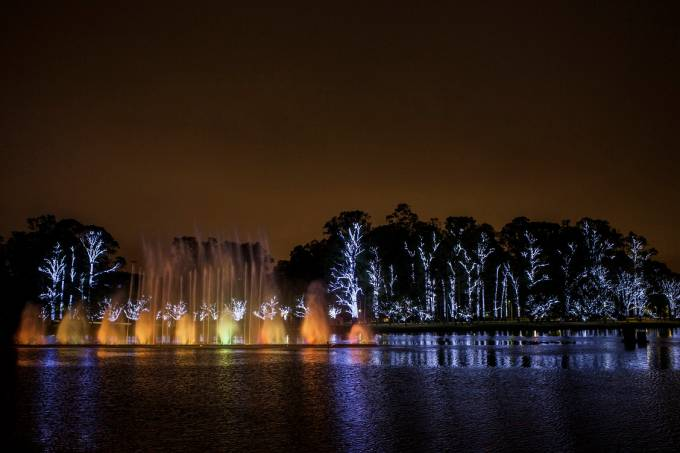 Natal Iluminado – Fonte do Parque do Ibirapuera