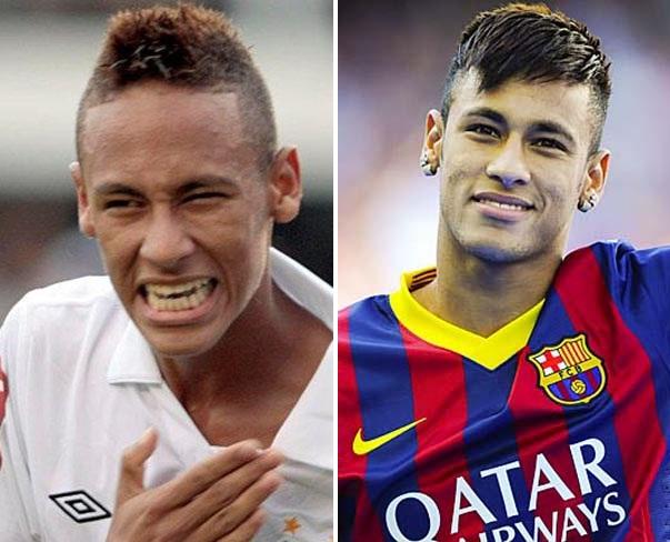 Neymar comemora primeiro gol do Santos na vitória sobre Corinthians