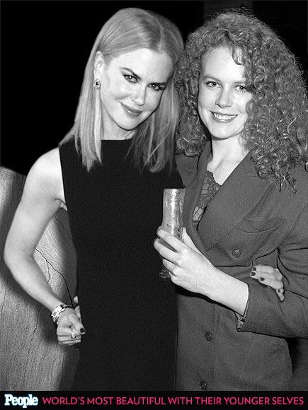 Nicole Kidman em 1988 e em 2013