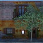 Fachada que imita uma casa