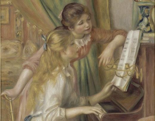 """""""Jeunes Filles au Piano"""", de Renoir: 85 peças emprestadas do aclamado Museu d'Orsay, em Paris, compõem a mostra """"Impressionismo: Paris e a Modernidade"""""""