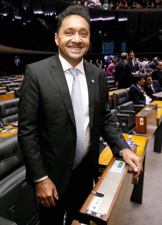O deputado federalTiririca durante sessão para eleger o novo presidente da Câmar