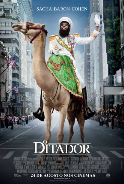 Pôster de O Ditador: comédia estrelada por Sacha Baron Cohen
