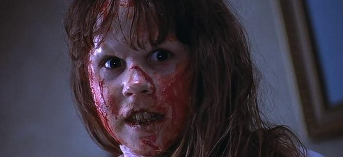 Linda Blair é possuída pelo demônio em O Exorcista - – dias 4, 5 e 8 de abril