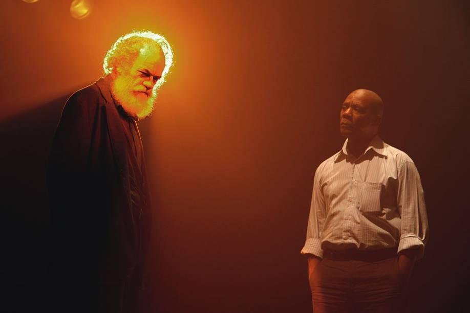 Embate de ideias: os atores Cacá Amaral e Guilherme Sant'Anna sobressaem no drama O Expresso do Pôr do Sol