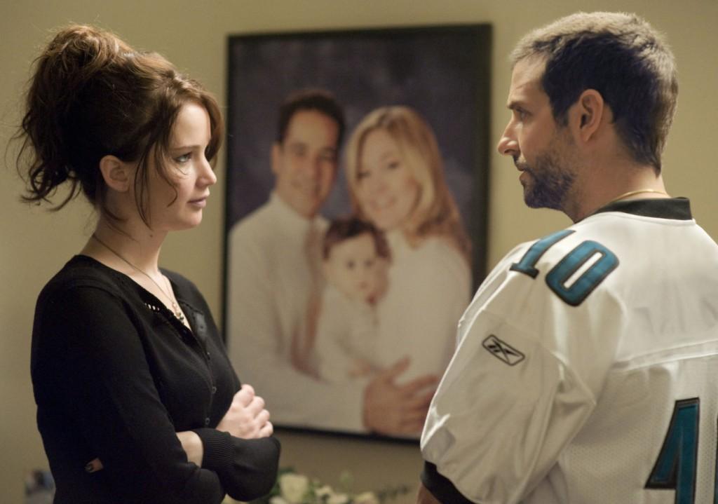 Jennifer Lawrence e Bradley Cooper em O Lado Bom da Vida