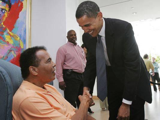 Muhammad Ali e Obama