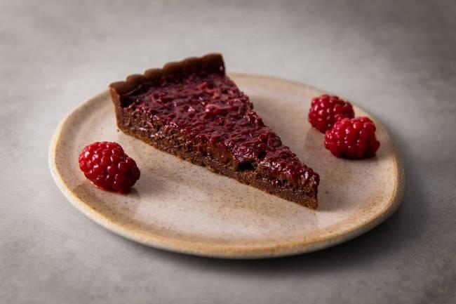 Confeitaria Marília Zylbersztajn - torta de chocolate e amora
