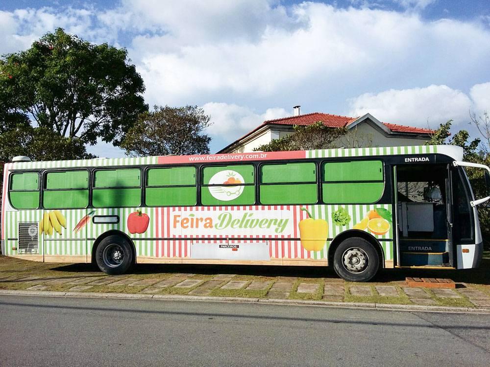 ônibus feira delivery condomínios