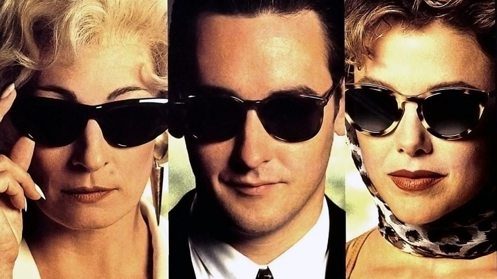 Anjelica Huston, John Cusack e Annette Bening em Os Imorais
