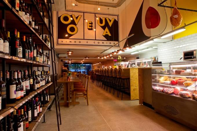 O Ovo e a Uva: restaurante, bar de vinhos, rotisseria e empório em um único espaço