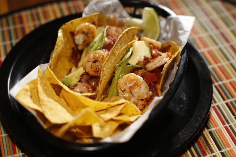 Taco de camarão: uma das pedidas do cardápio