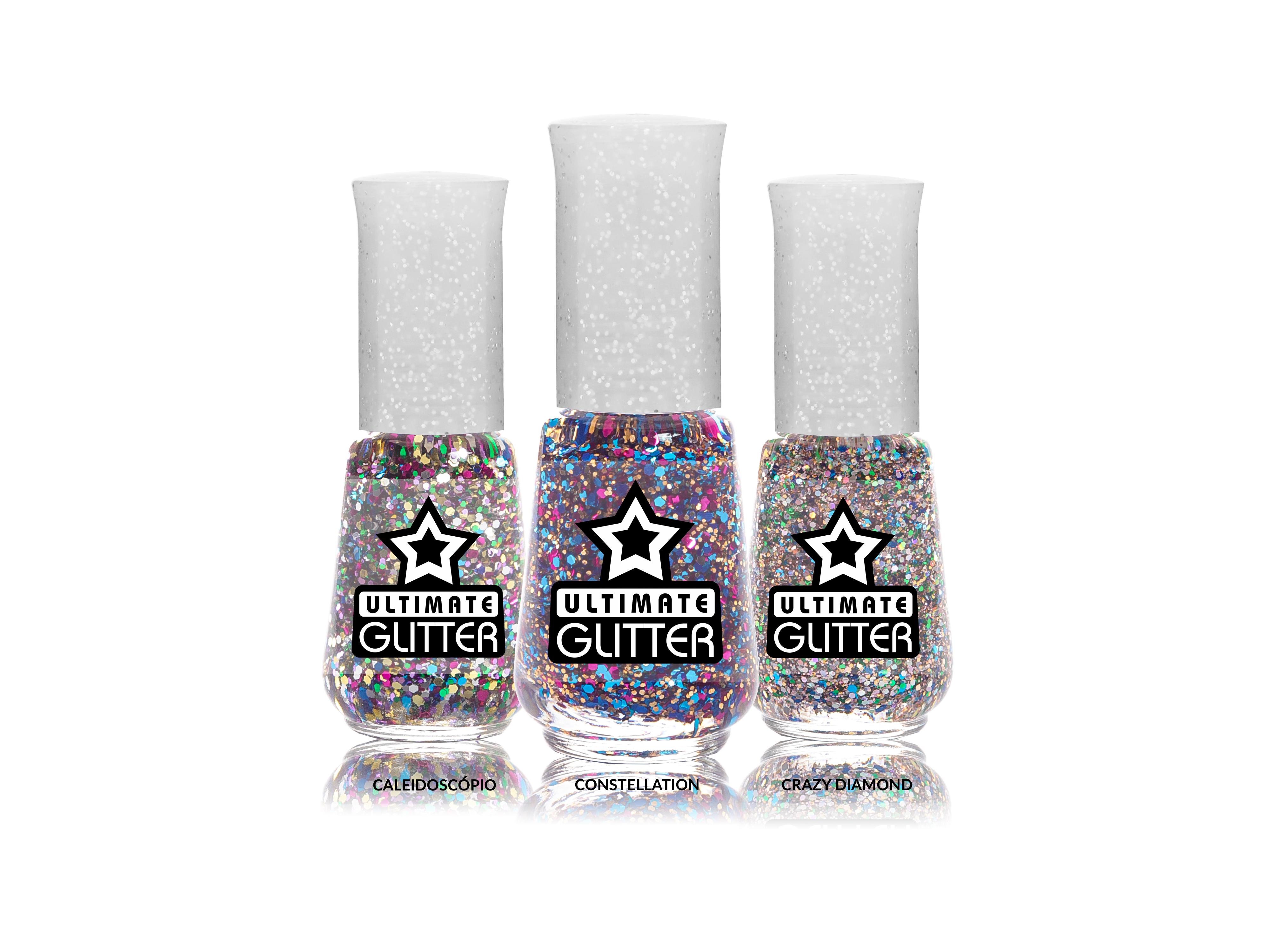 Verão rima com cor e a nova coleção da Ultimate Glitter, da Top Beauty traz três novos tipos de glitters para você abrilhantar ainda mais suas unhas, cobrindo qualquer esmalte ou usando sozinho. Preço sugerido: R$ 4,80 (cada)