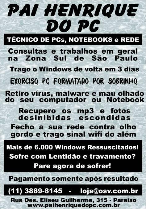 Pai Henrique do PC - Flyer