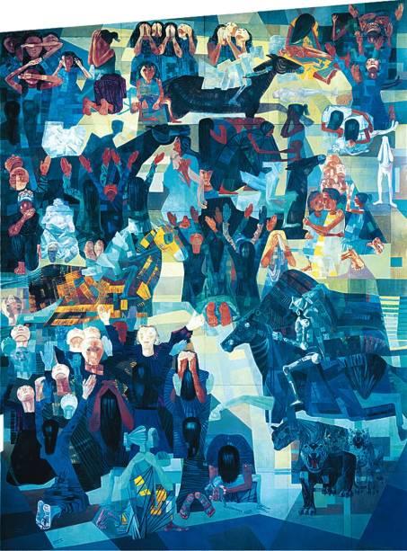 Guerra: realizadas entre 1952 e 1956, as obras exploram formas cubistas